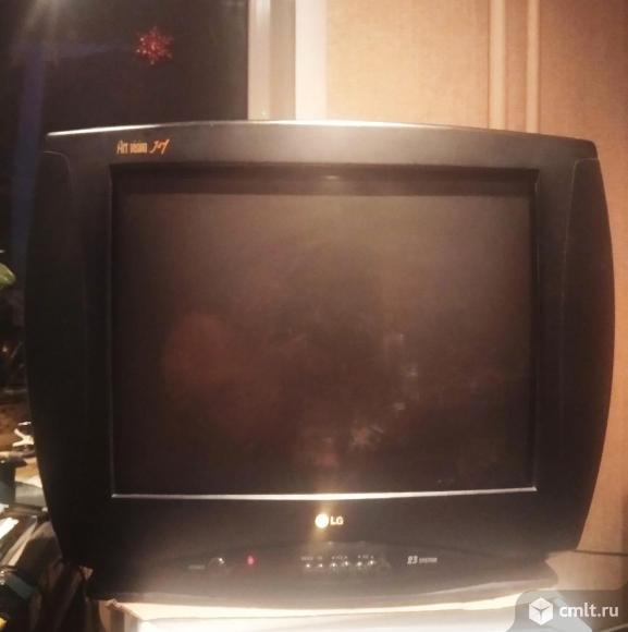 Телевизор кинескопный цв. LG CF-21D70. Фото 1.
