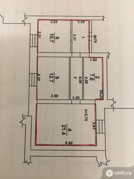 2-комнатная квартира 63 кв.м. Фото 19.