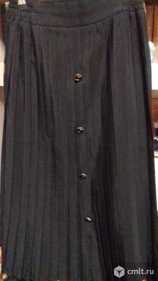Юбка женская черная новая, плиссе, р. 46-48, 700 р. Фото 1.