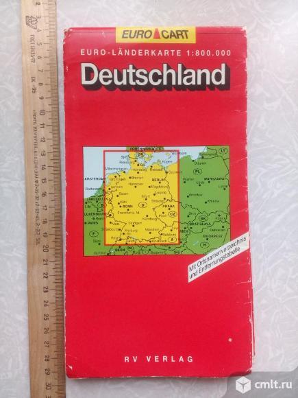 Большая карта Uero-Landerkarte 1:800.000 Deutschland-Euro-Cart. Фото 1.