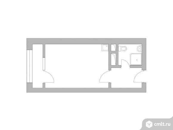 1-комнатная квартира 24,65 кв.м. Фото 1.