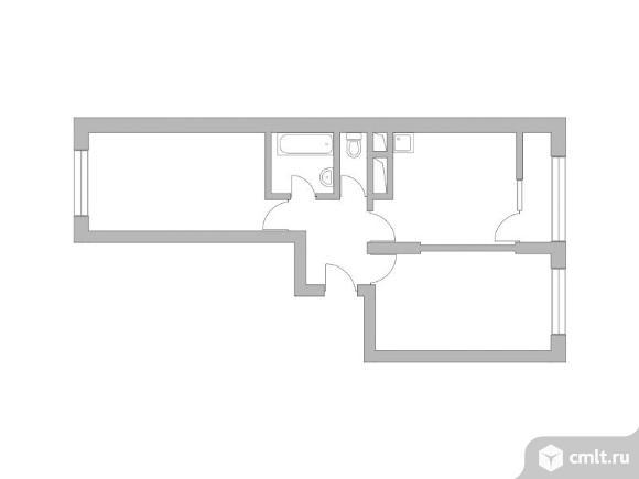2-комнатная квартира 51,8 кв.м. Фото 1.
