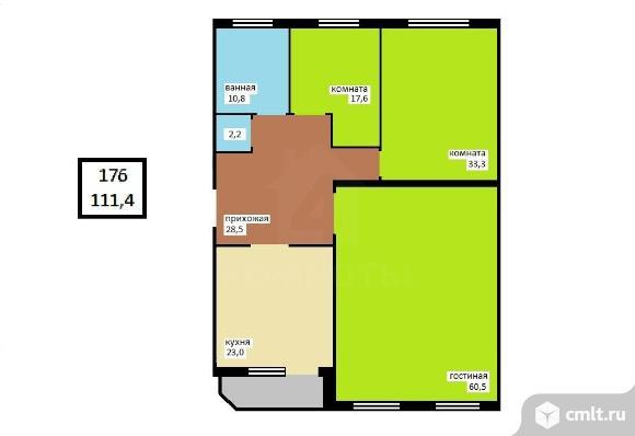 3-комнатная квартира 176 кв.м. Фото 9.
