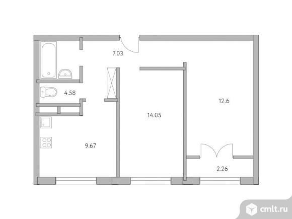 2-комнатная квартира 50,19 кв.м. Фото 1.