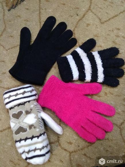 Варежки, перчатки женские. Фото 1.