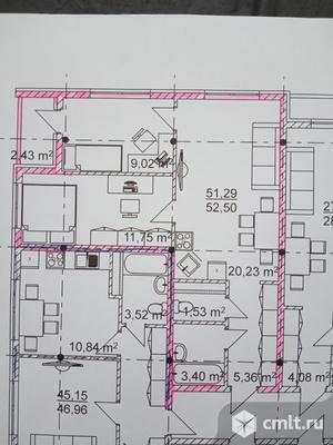 3-комнатная квартира 51,3 кв.м. Фото 1.