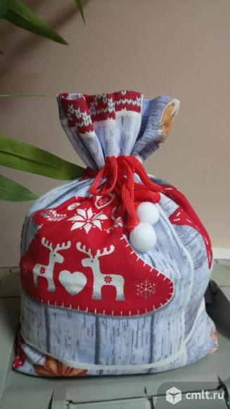 Новогодний мешочек для подарков (новый). Фото 2.