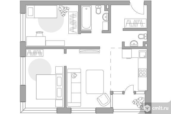 3-комнатная квартира 60,7 кв.м. Фото 1.