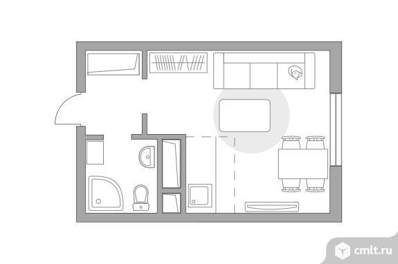 1-комнатная квартира 22,25 кв.м. Фото 1.