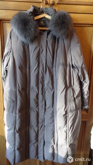 Пуховик женский пальто с капюшоном. Фото 1.