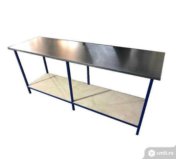 Слесарный стол c оцинкованной столешницей. Фото 1.