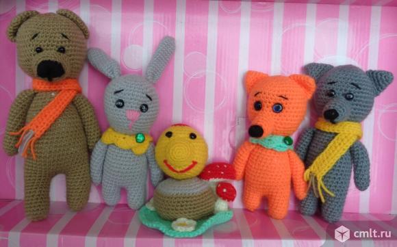 Набор вязанных игрушек из русских сказок 2. Фото 1.