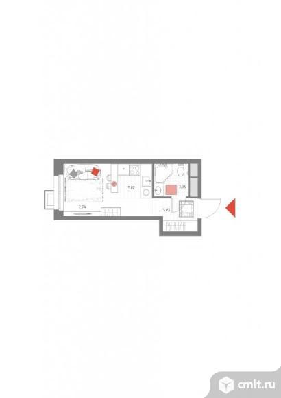 1-комнатная квартира 19,44 кв.м. Фото 1.