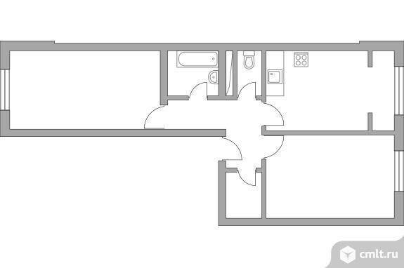 2-комнатная квартира 54,15 кв.м. Фото 1.