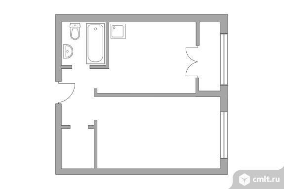 1-комнатная квартира 32,16 кв.м. Фото 1.