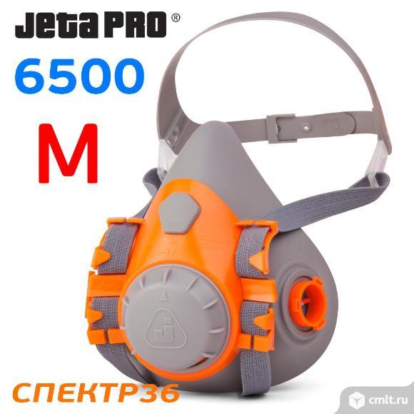 Полумаска  JetaPRO Safety 6500 силиконовая (р. M). Фото 5.