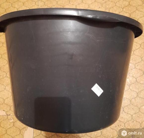 Таз строительный круглый пластмассовый новый, емкость 65 л. Фото 1.