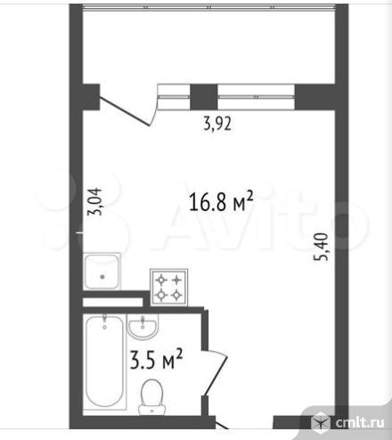 1-комнатная квартира 20 кв.м. Фото 13.