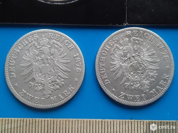 Германская империя 2-3 марки. серебро 900 (оригиналы). Фото 14.