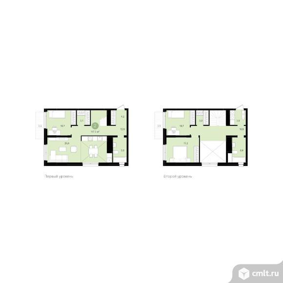 2-комнатная квартира 117,34 кв.м. Фото 1.