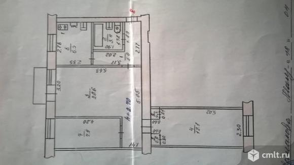 3-комнатная квартира 56,4 кв.м. Фото 12.