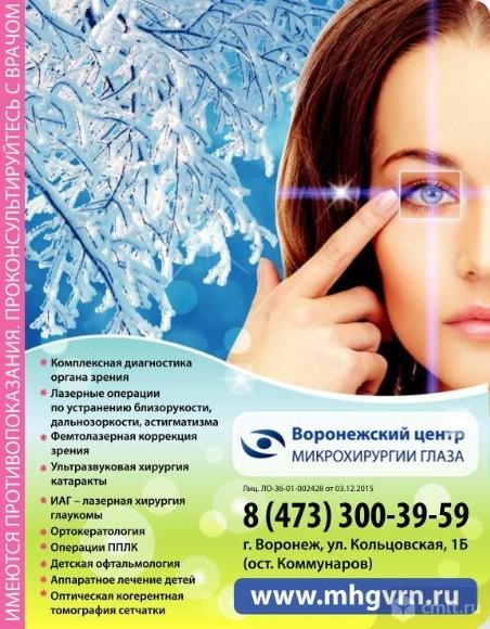 Воронежский Центр Микрохирургии Глаза.