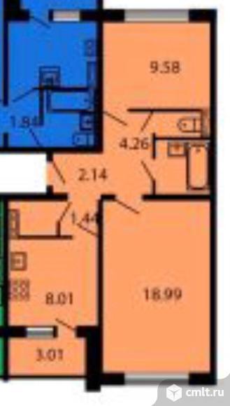 2-комнатная квартира 50,7 кв.м. Фото 16.