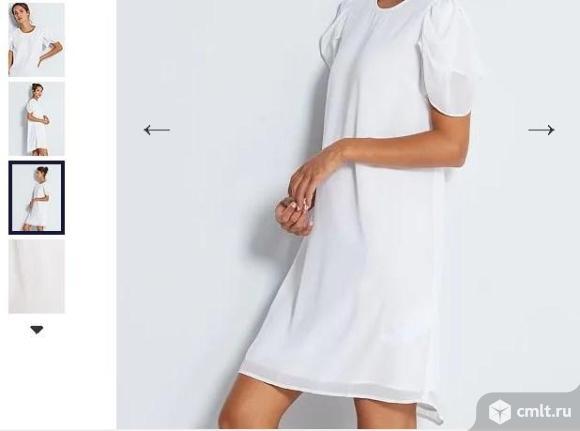 Платье кипельно-белое, kiabi, р. 48-50. Фото 1.