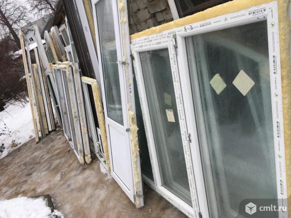 Окна.б/у.пластик.белые.серые.двери.блоки балконные.. Фото 7.