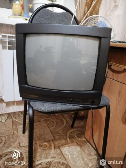 Телевизор кинескопный цв. Sanyo. Фото 1.