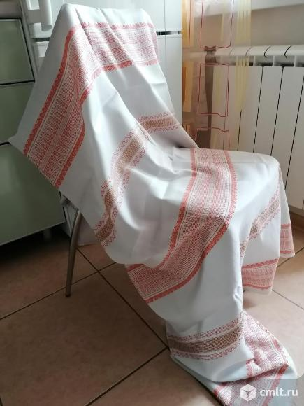 Ткань лён. Фото 1.