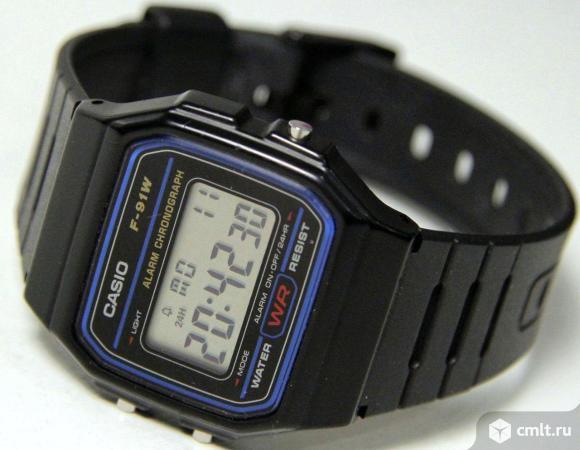 Электронные часы Casio F-91W. Фото 1.
