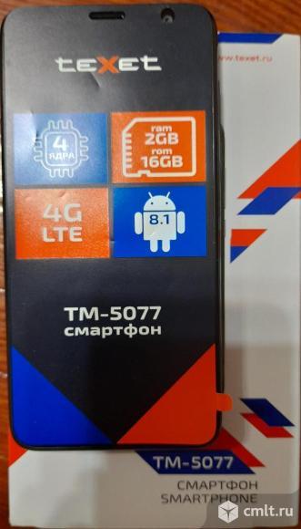 """5"""" Смартфон Texet TM-5077 2/16 ГБ. Фото 1."""
