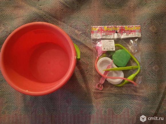 """Детский набор игрушка """" Доктор"""" и ведёрко. Фото 3."""