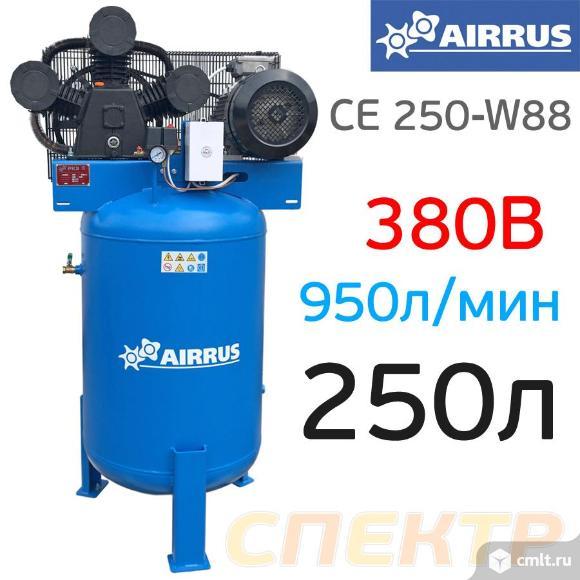 Компрессор вертикальный AIRRUS CE 250-W88 B (380В). Фото 1.