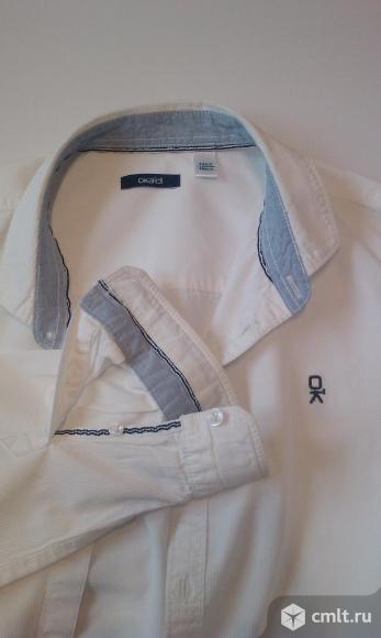 Okaidi 164 см 14 лет рубашка белая длинный рукав. Фото 1.