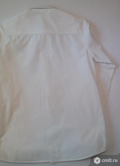 Okaidi 164 см 14 лет рубашка белая длинный рукав. Фото 4.