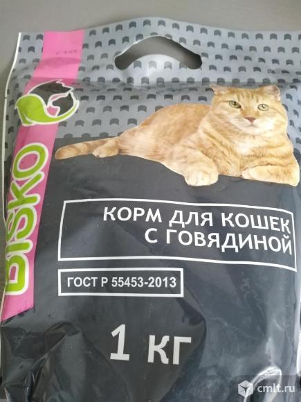 Полнорационный сухой и влажный корм для собак и кошек БИСКО. Фото 1.