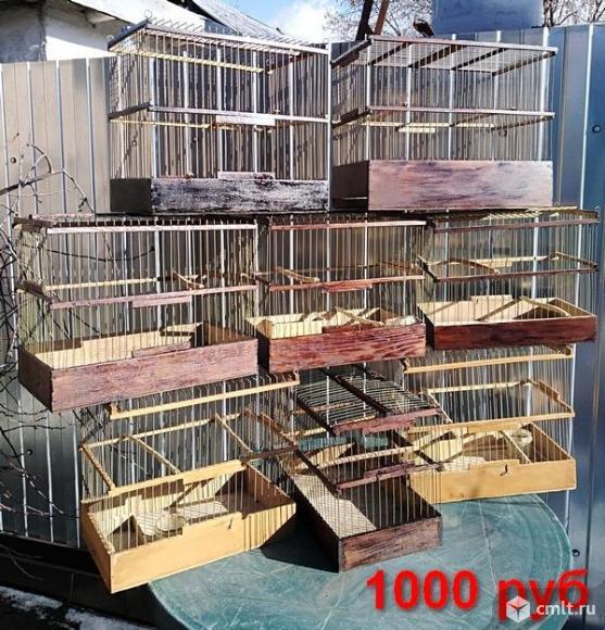 Клетки  для птиц и зимний садок для попугаев.. Фото 1.