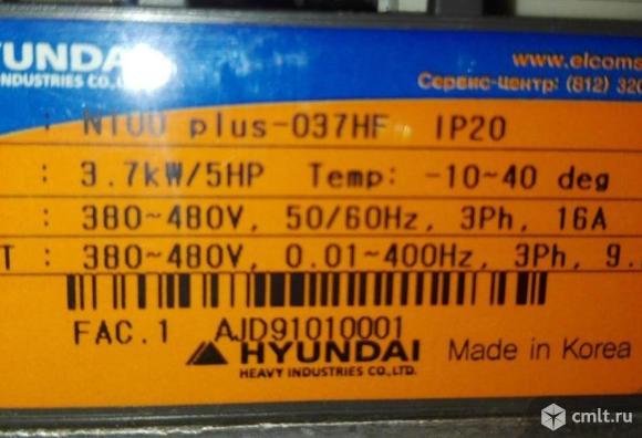 Частотный преобразователь HYUNDAI N100- 037HF 380V  3.7kWt. Фото 3.