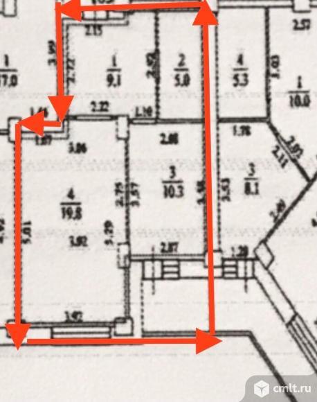 1-комнатная квартира 44,2 кв.м. Фото 8.