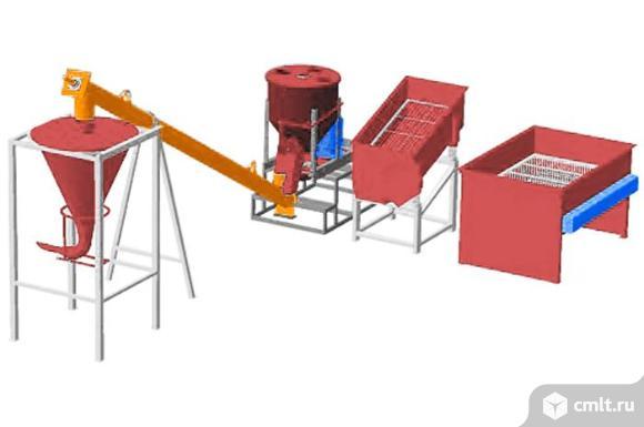 Линия для производства сухих строительных смесей, производительностью 5 тонн в смену МЗ-5Т. Фото 1.