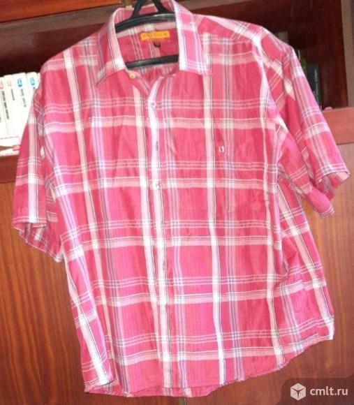 Рубашка мужская импортная с кор.рукавом - р.45-46/176. Фото 1.