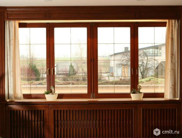 Цветные (ламинированные) пластиковые окна. Фото 1.