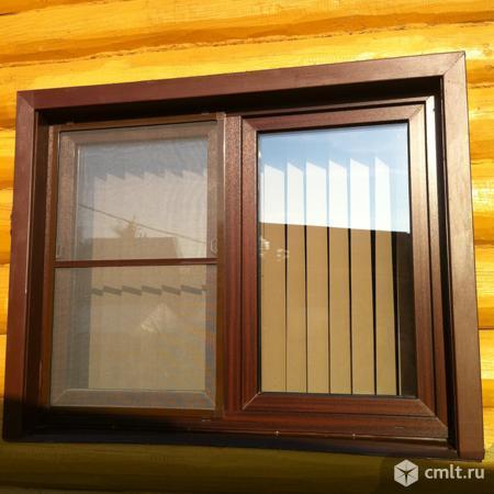 Цветные (ламинированные) пластиковые окна. Фото 4.