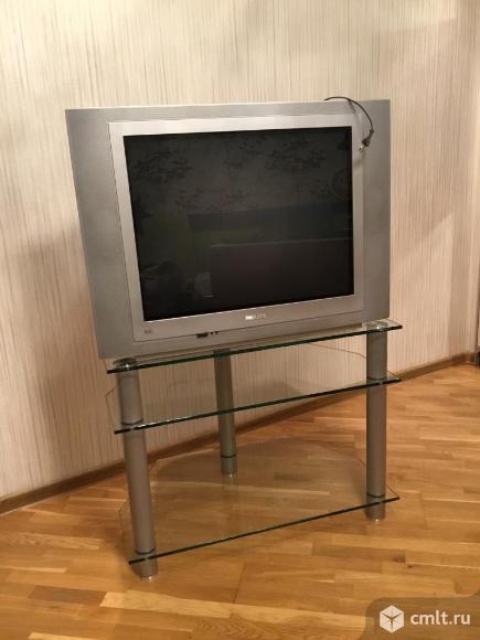 Тумба под телевизор стекло. Фото 6.