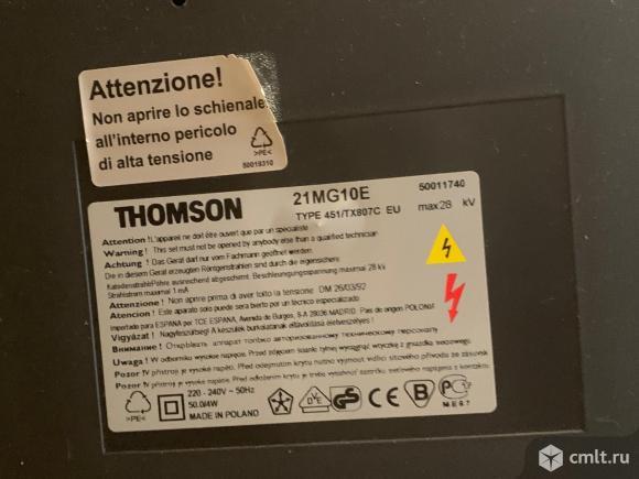 Телевизор кинескопный цв. Thompson 21MG10E. Фото 3.