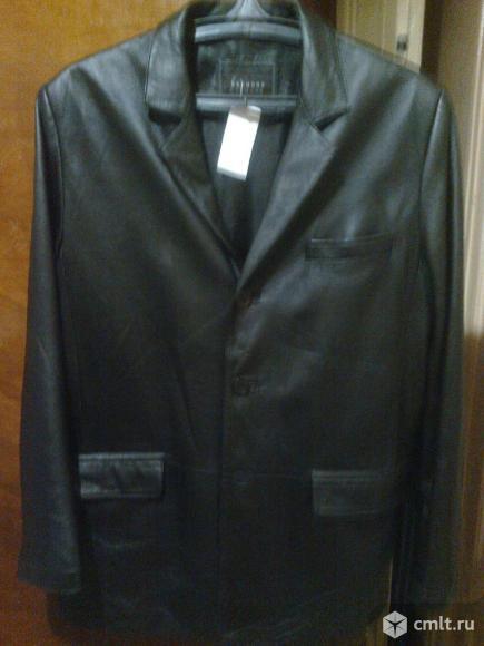 Мужской пиджак из натуральной кожи. Фото 1.