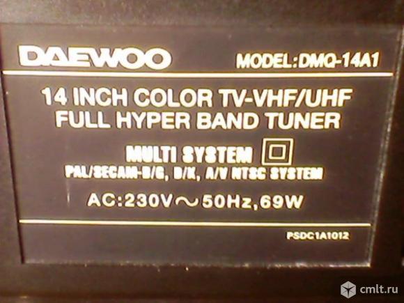 Телевизор кинескопный цв. Daewoo DNQ-14A1. Фото 6.