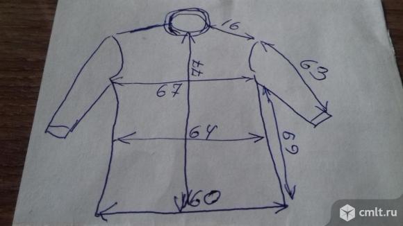 Куртка мужская джинсовая черная, утепленная, р. 54, б/у. Фото 5.